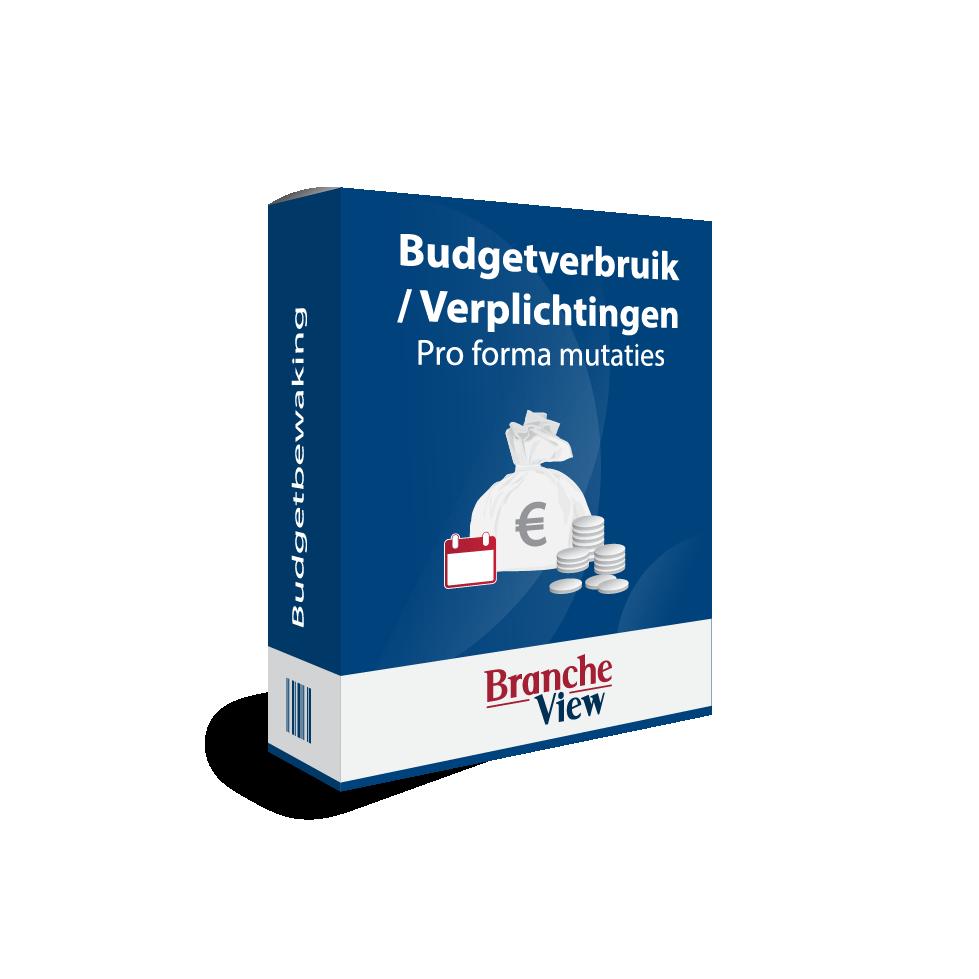 Budgetverbruik / Verplichtingen – Pro forma mutaties